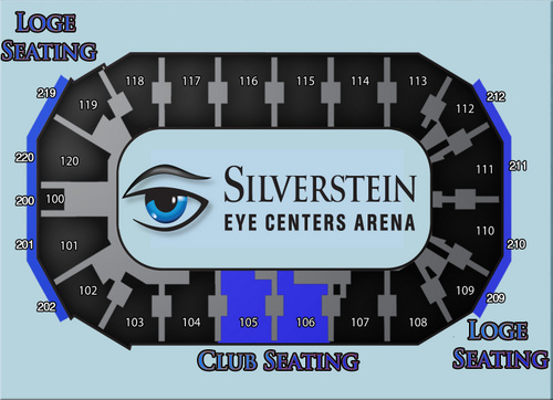 To View An Interactive Seat Map For Each Event Scheduled At Silverstein Eye Centers Arena Please Visit Http Bit Ly Eventmapsseca